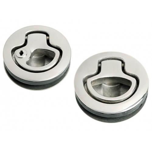 Náhradné zámky z nehrdzavejúcej ocele namiesto štandardných (4 so zámkami, 2 bez zámkov)
