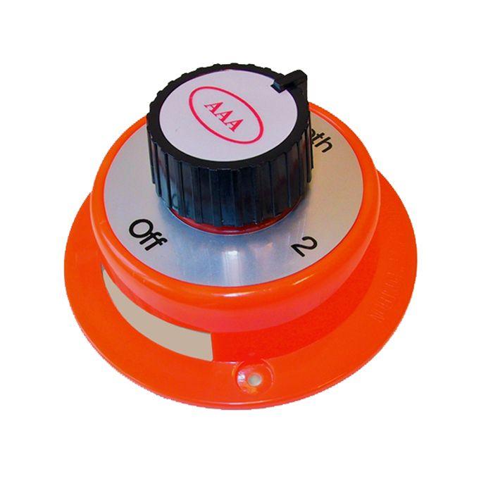 Hlavný vypínač a prepínač batérií