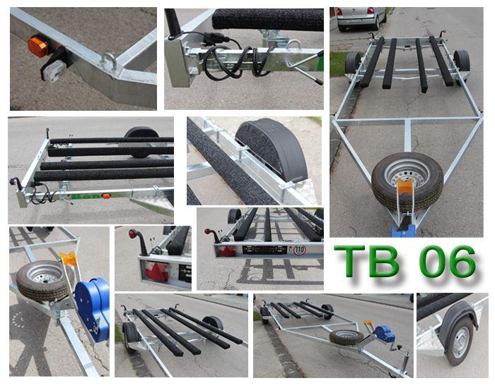 TB 06 BR - vozík brzdený do 1500 kg