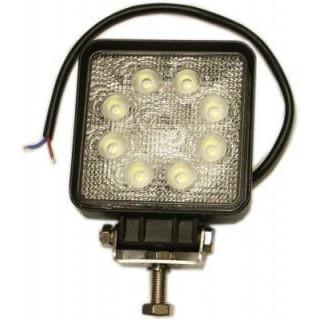 Rybársky čln Pracovný štvorcový svetlomet LED 8 - 30 V