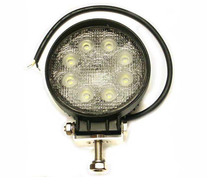 Pracovný okrúhly svetlomet LED 8-30V