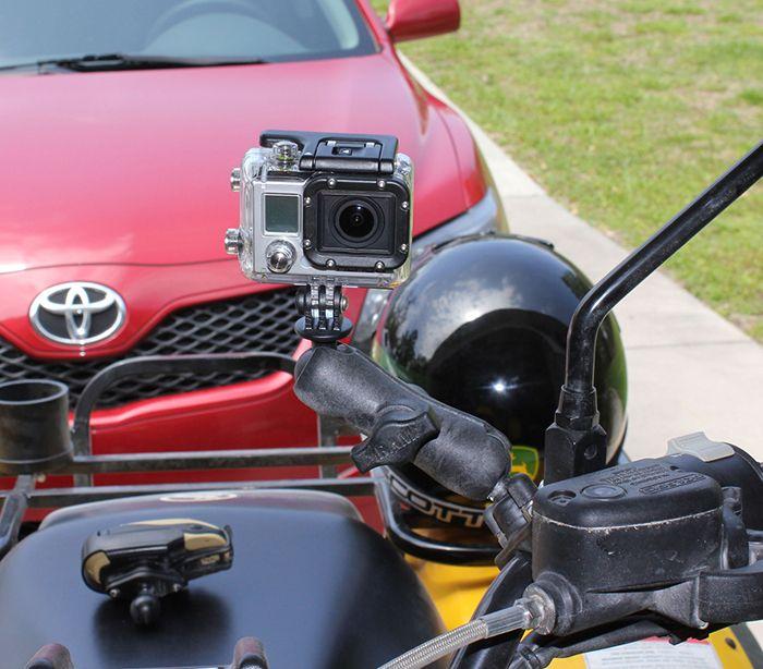 Kĺbový držiak RAM na GoPro s rúrkovým úchytom