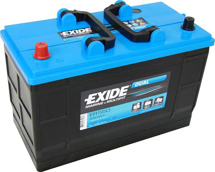Batéria Exide Dual 115 Ah/12 V/760 A