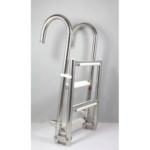 Rybársky čln Kúpací rebrík 2+2, šírka 25 cm, 91 cm