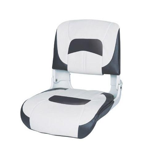 Rybársky čln Sklápacie sedadlo Premium biela/antracit