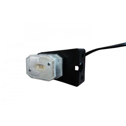 Rybársky čln Svetlo pozičné LED biele s držiakom QS075