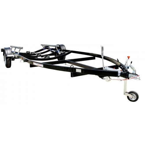Rybársky čln FB2-black Prívesný vozík čierny 1500 kg